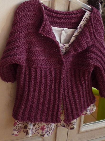 veste kimono encre violette