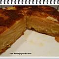 Gâteau l'invisible aux pommes