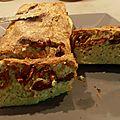Cake tomates séchés, chèvre, courgette