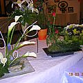 COMPOSITION FLORALE Arum et rose