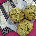 Cookies thé matcha et gingembre confit