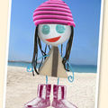 En moon-boots sur la plage !