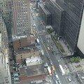 La rue, 34th street, vue de la chambre de notre hôtel