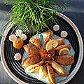 Pastels Thon et Gambas, Sauce Vierge