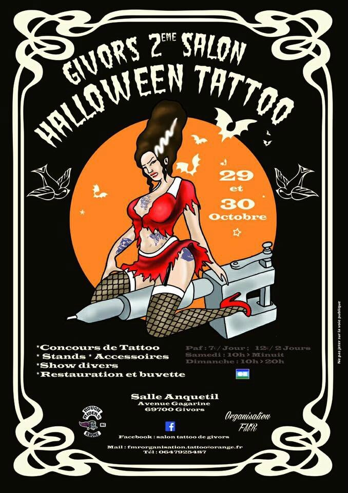 Convention Halloween Tattoo de Givors Salle Anquetil avenue Gagarine 69700 Givors
