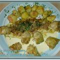 Filets de pangas au curry, artichauts et pommes de terre