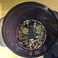 Fondue de poireaux/pommes-de-terre au micro-cook