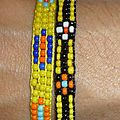 Bracelet 'Native American' ou Amérindien en perles tissées