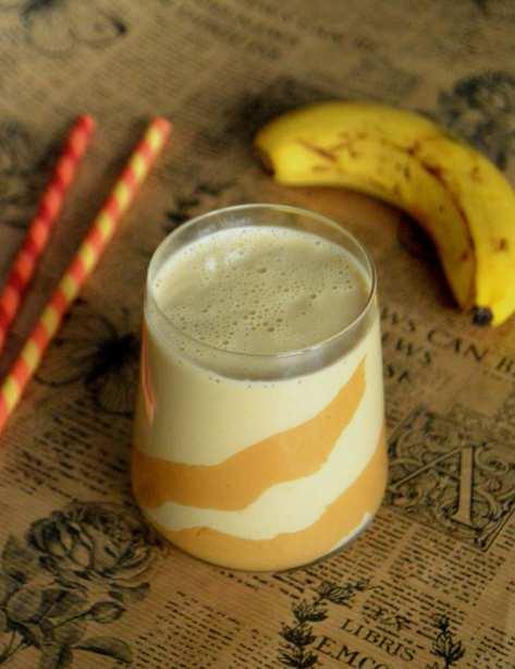 Milk-shake crémeux banane et beurre de cacahuète