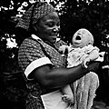 Maid with crying baby-Zimbabwe 2013