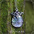 [avis aux amateurs de belles pierres] pendentif en labradorite violette, bleue et dorée et pendentif en obsidienne oeil céleste