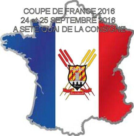 ATTENTION PAS DE RAME SAMEDI PROCHAIN – Coupe de France à Séte.