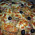 Pizza au caviar d'aubergine