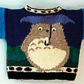 Pull over totoro au tricot