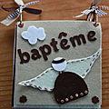 Mini feutrine by Angèle: baptême