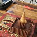 Gâteau château fort, chocolat et finger