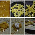 Crêpes à l'ananas caramélisé, sauce mangue et chantilly vanillée