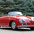 1957 <b>Porsche</b> 356A 1600 Speedster by Karosseriewerk Reutter.