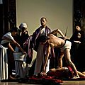 Students from the Academy <b>of</b> Fine <b>Arts</b> <b>of</b> Naples create scenes inspired by Caravaggios paintings in Naples, Italy