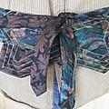 ceinture obi avec 2 cravates