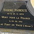 FABIOUX Eugène (Villedieu sur Indre) + 06/06/1916 Tavannes (55)