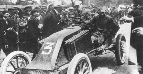1903 paris-madrid - louis renault (renault), mechanic ferenc szisz, 2nd 2