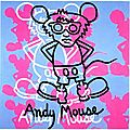 Haring 1985_Andy mouse