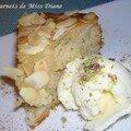 Gâteau aux pommes et crème glacée au fromage de chèvre, sans gluten