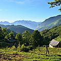 Paysages d'Aspe vus de Boesou et Catazar, le 12 août 2016