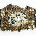 bracelet cabochon dalmatien fermé
