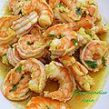 Crevettes sautées a la coriandre et citron