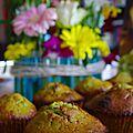 Muffin au thé matcha et pistache... sans gluten