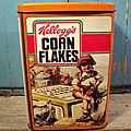 Ancienne Boite Publicitaire Kellogg's Corn Flakes <b>Vintage</b> Années 80