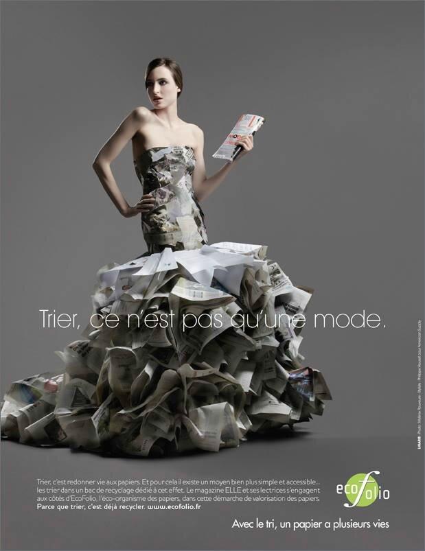 Ecofolio campagne recyclage des papiers 2010 trier ce n for Qu est ce qu une robe de trompette