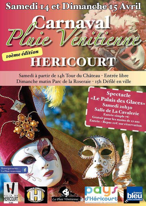 Affiche Héricourt Carnaval vénitien 2018