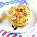 Pancakes {rhum/raisins & bananes}