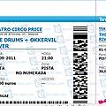 Okkervil River / The <b>Drums</b> - Jeudi 1er Septembre 2011 - Teatro Circo Price (Madrid)