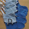 Feutrine : les bottines bleues