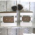 Boites en bois de style maison de campagne
