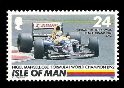NIGEL MANSELL 1992 TIMBRE