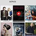 Les <b>séries</b> TV ne manquent pas sur l'appli Android PlayVOD