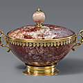 A vermeil mounted <b>Jasper</b> dish and cover, Italy or Southern Germany, 17th century