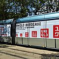 Tramway UniQlo from Tokyo to Bordeaux, Quinconces.