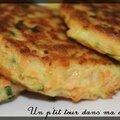 P'tites galettes saumon/courgette