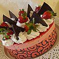 Tentation a la fraise ( gâteau mousse a la fraise)