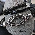 Noir c'est noir, le <b>bracelet</b> cuir, cordon liberty étoiles et <b>chaîne</b> ronde noir, il y a de l'espoir !