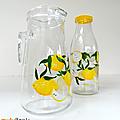 Vintage ... pichet le parfait * les citrons