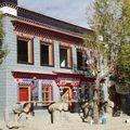 Maison peinte à gyantze (tibet)