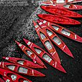 Kayaks rouges