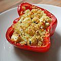 Poivrons farcies au quinoa et feta